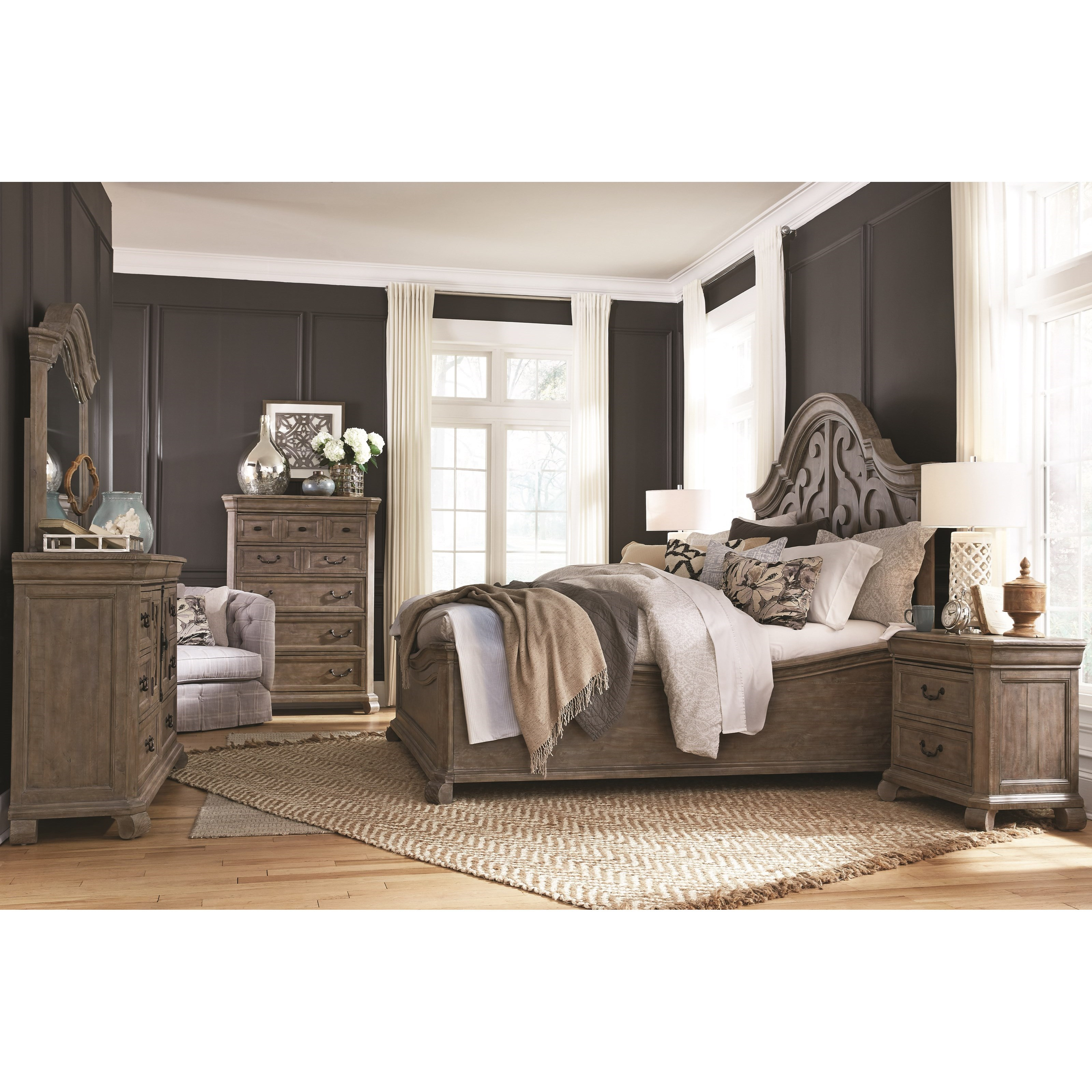 Tinley Park California King Bedroom Group by Magnussen Home at Mueller Furniture