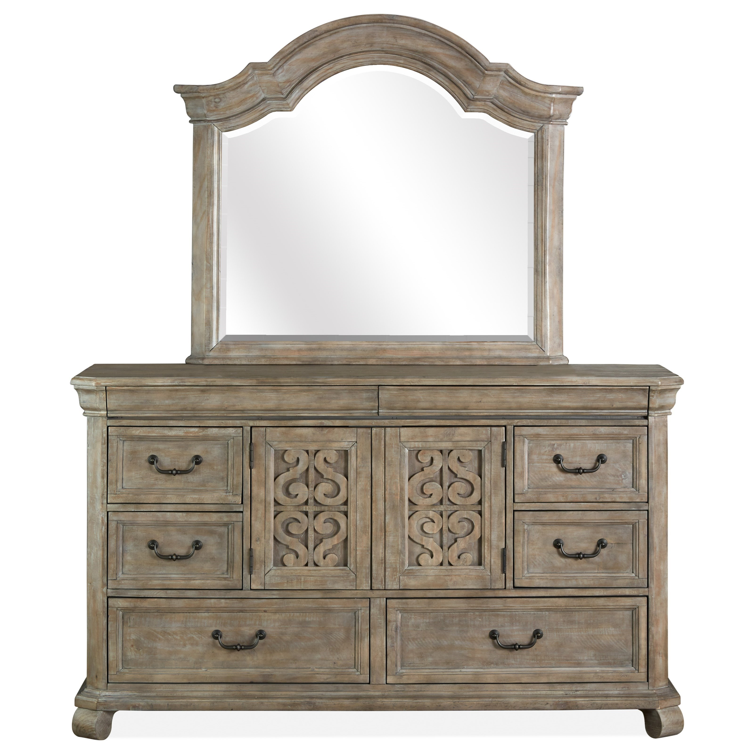 Tinley Park Drawer Dresser & Mirror Set by Magnussen Home at Upper Room Home Furnishings