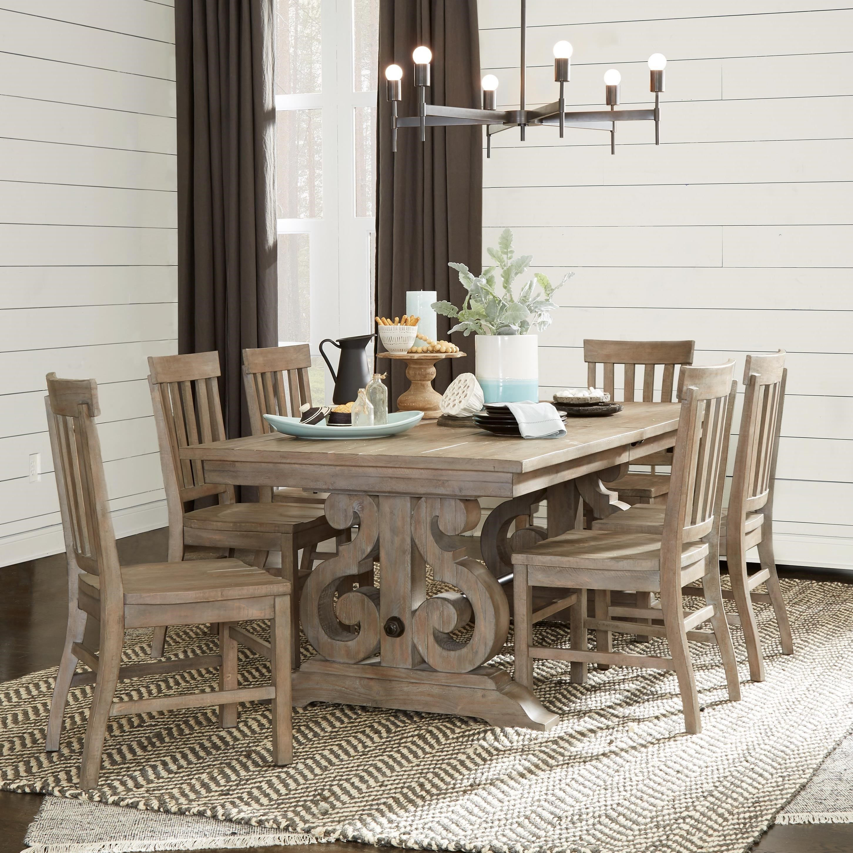 Tinley Park 7 Piece Dining Table Set by Magnussen Home at Baer's Furniture