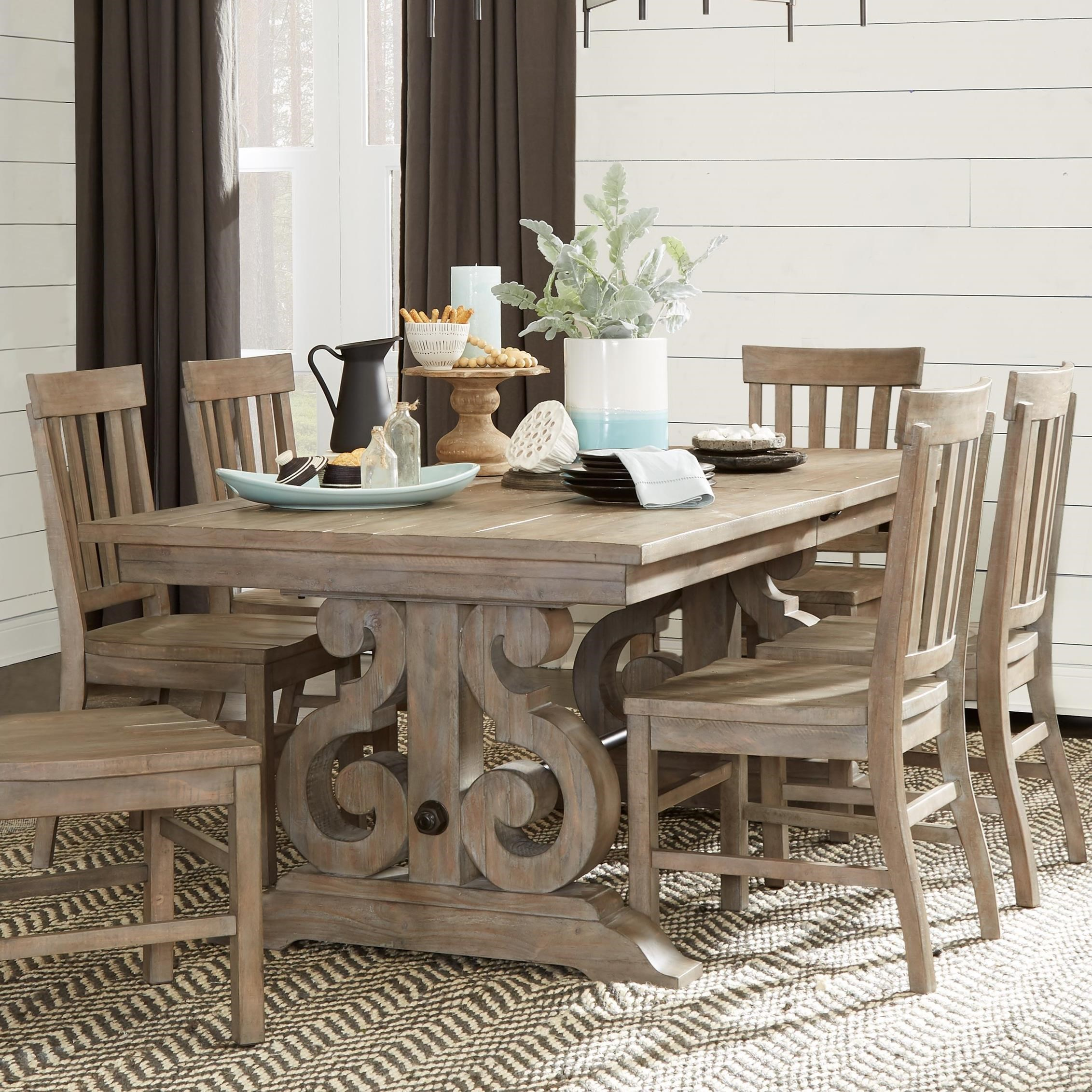 Tinley Park Rectangular Dining Table  by Magnussen Home at Mueller Furniture