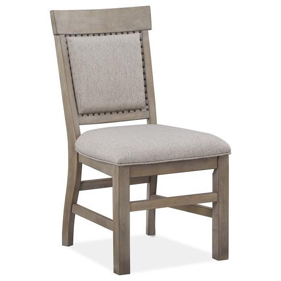 Tinley Park Dining Side Chair w/Upholstered Seat & Back by Magnussen Home at Baer's Furniture