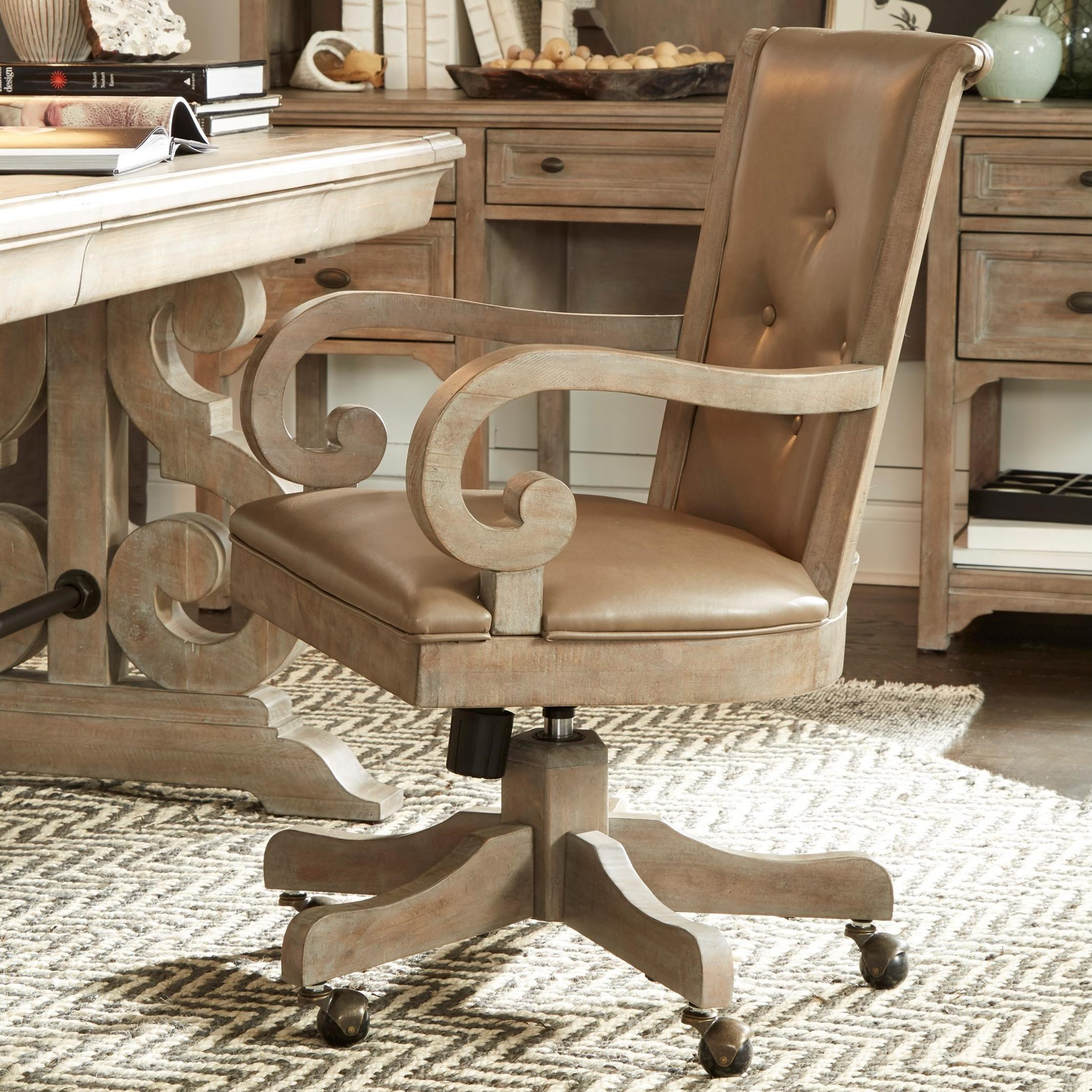 Tinley Park Upholstered Swivel Chair by Magnussen Home at Baer's Furniture