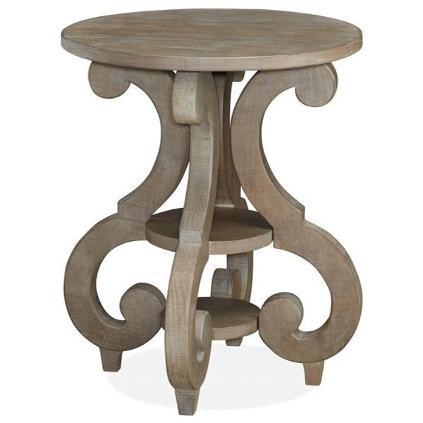 Tinley Park Round Accent End Table by Magnussen Home at Baer's Furniture