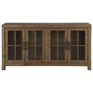 Buffet Curio Cabinet with Touch Lighting