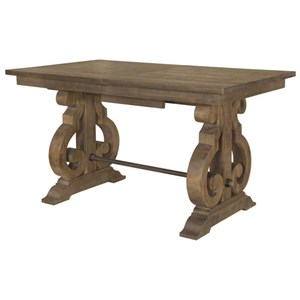 Rectangular Counter Table with Butterfly Leaf