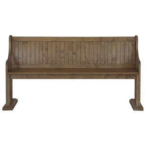 Dining Bench with Full Back