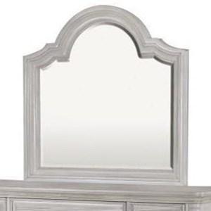 Landscape Mirror with Serpentine Top
