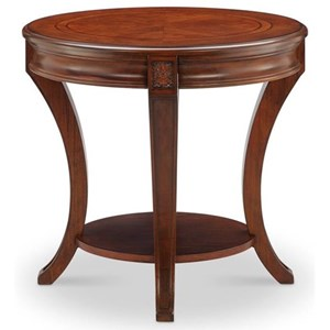 Oval End Table with Shelf
