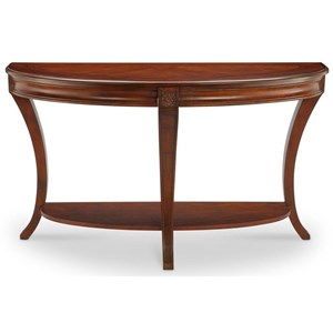 Demilune Sofa Table with Shelf