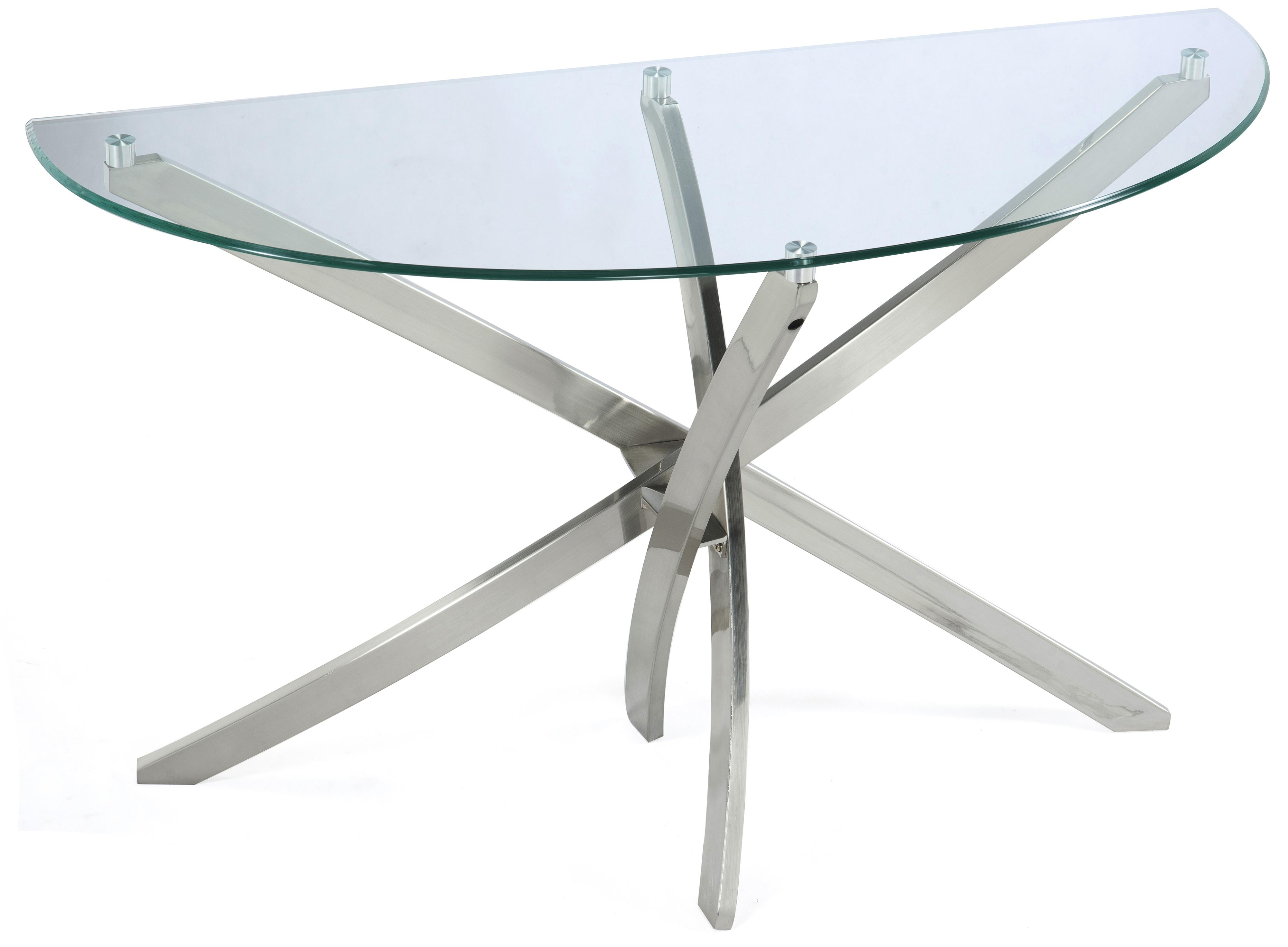 Zila Demilune Sofa Table by Magnussen Home at Darvin Furniture
