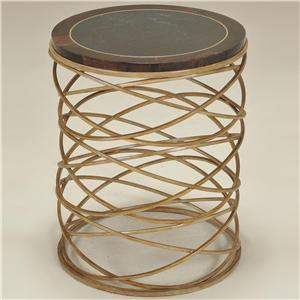 Maitland-Smith End Tables Gold Tone Finished Round Iron Table