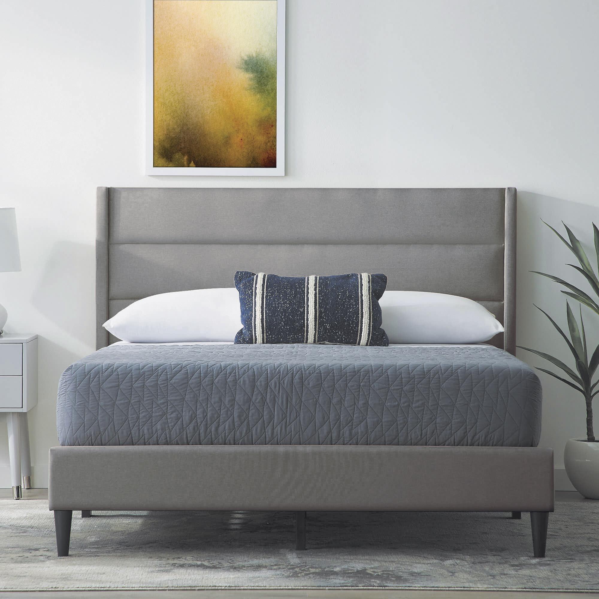 Dark Gray 3pc Full Platform Bed