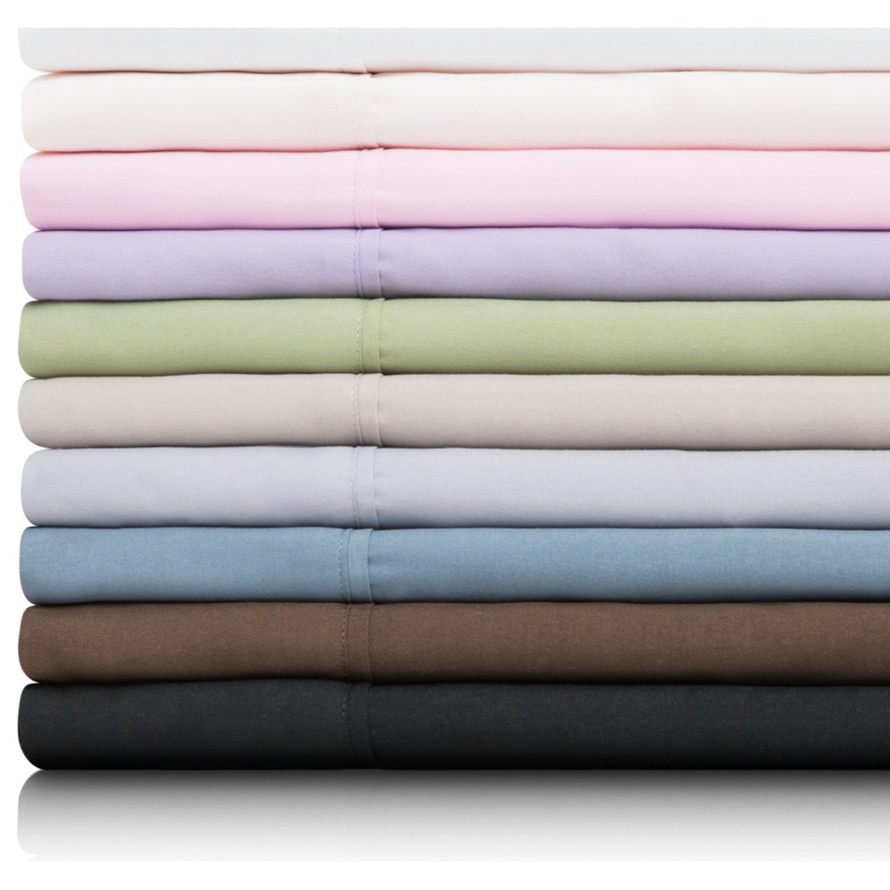 Brushed Microfiber Split Queen Woven™ Brushed Microfiber Sheet  by Malouf at Standard Furniture