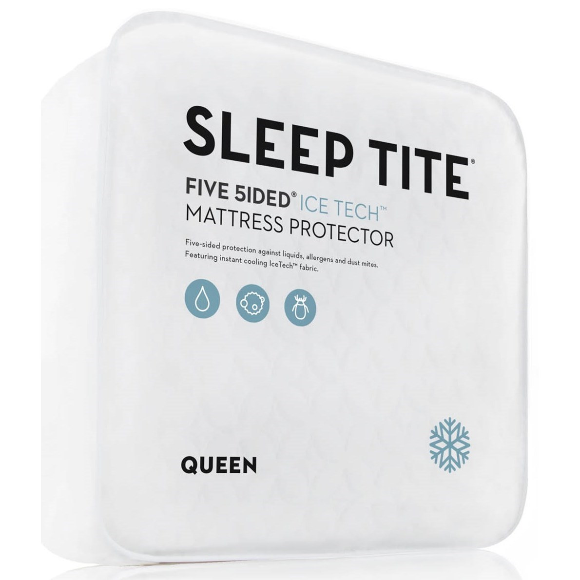 Five 5ided IceTech Twin Five 5ided IceTech Mattress Protector by Malouf at Standard Furniture