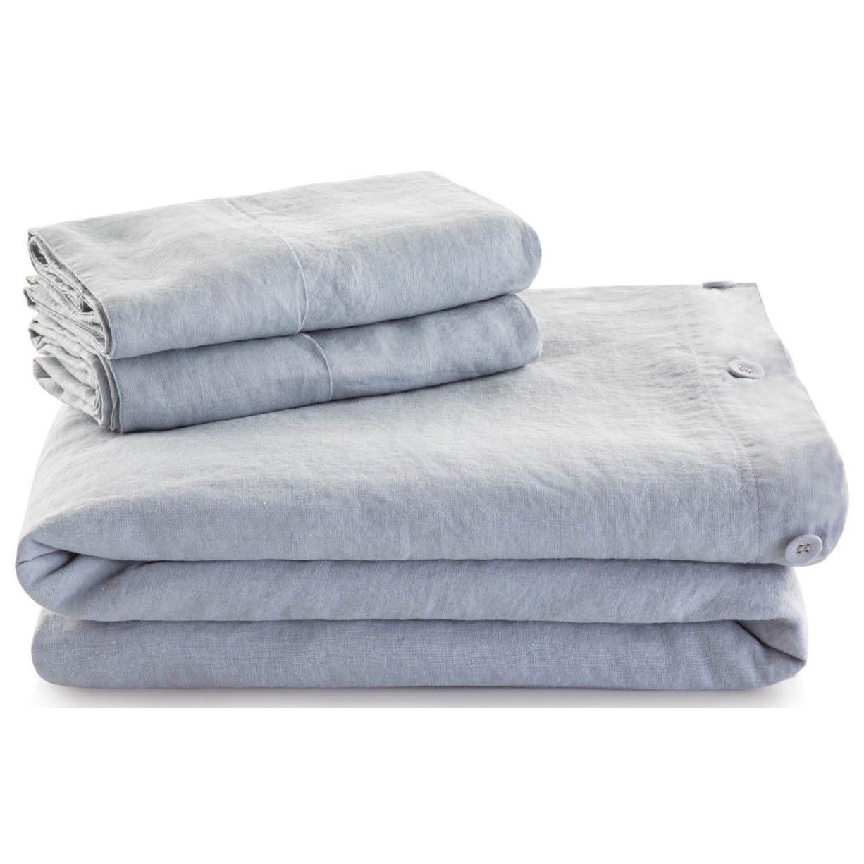 French Linen King 100% French Linen Duvet Set by Malouf at Northeast Factory Direct