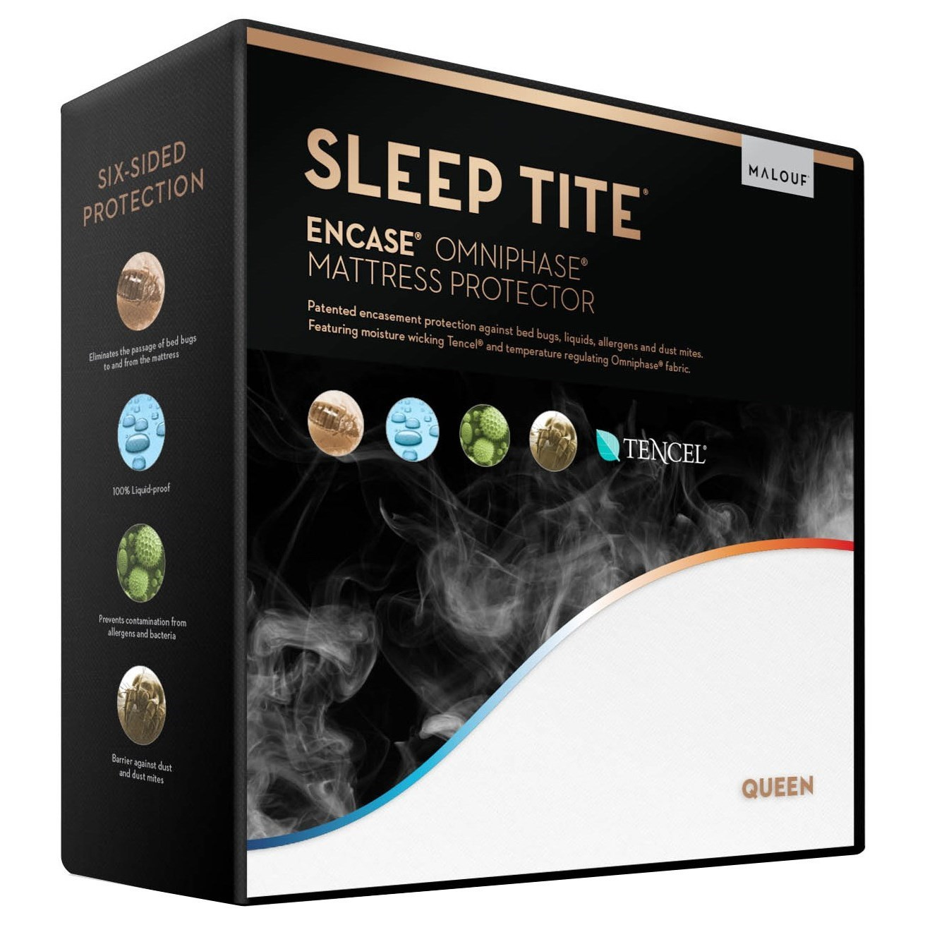 SL0T Sleeptite Fully Encased Protector Split CK Fully Encased Mattress Protector by Malouf at Rife's Home Furniture