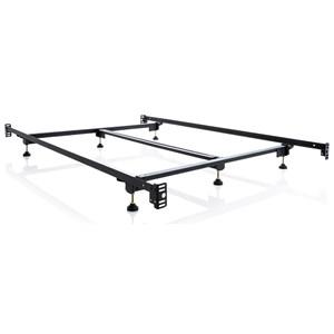 Queen Steelock Adaptable Hook-In Headboard Footboard Bed Frame