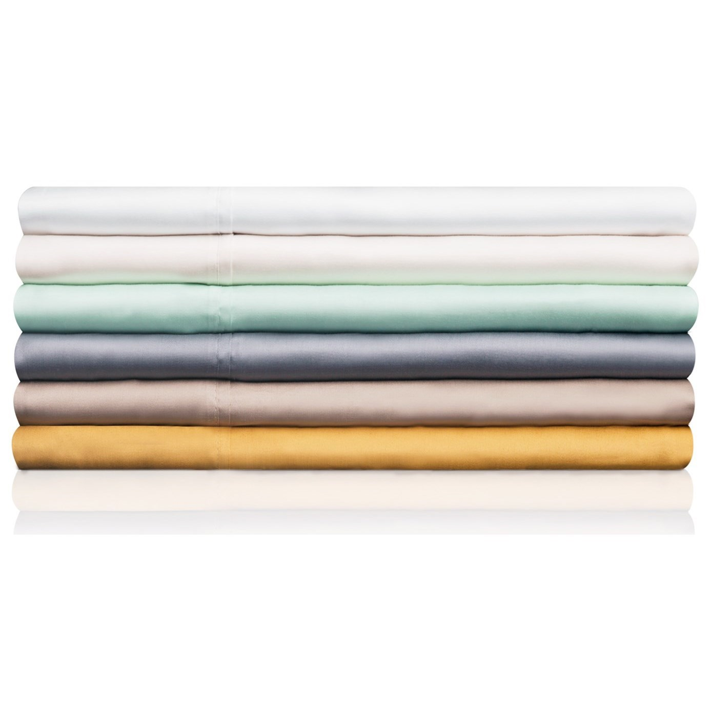 Tencel White Split Queen Sheet Set by Malouf at SlumberWorld