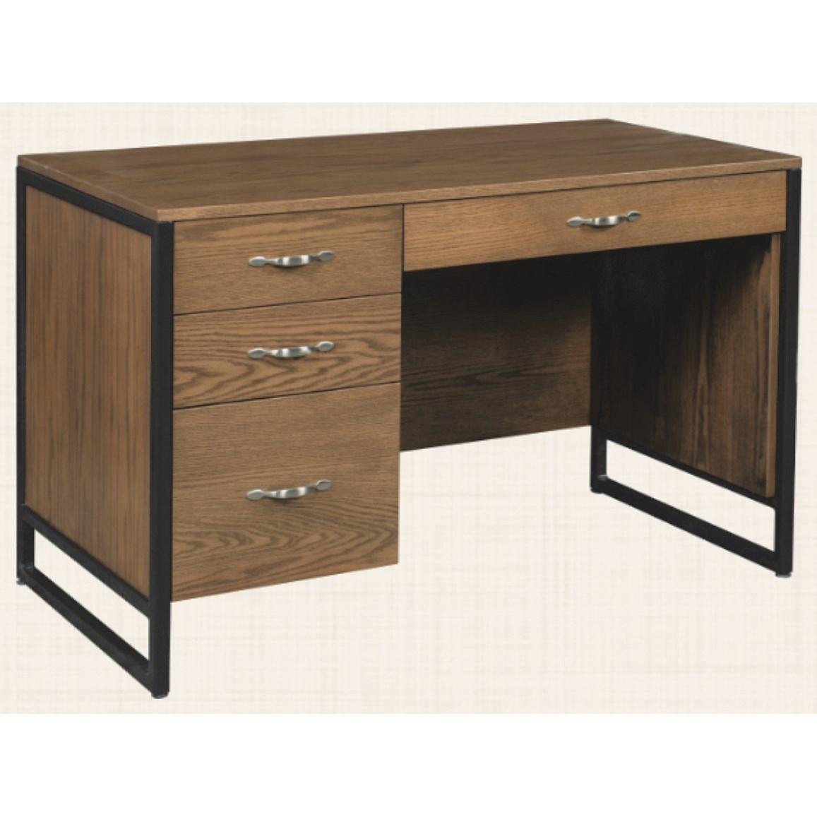 "Bridgeport 48"" Kneehole Desk by Maple Hill Woodworking at Saugerties Furniture Mart"