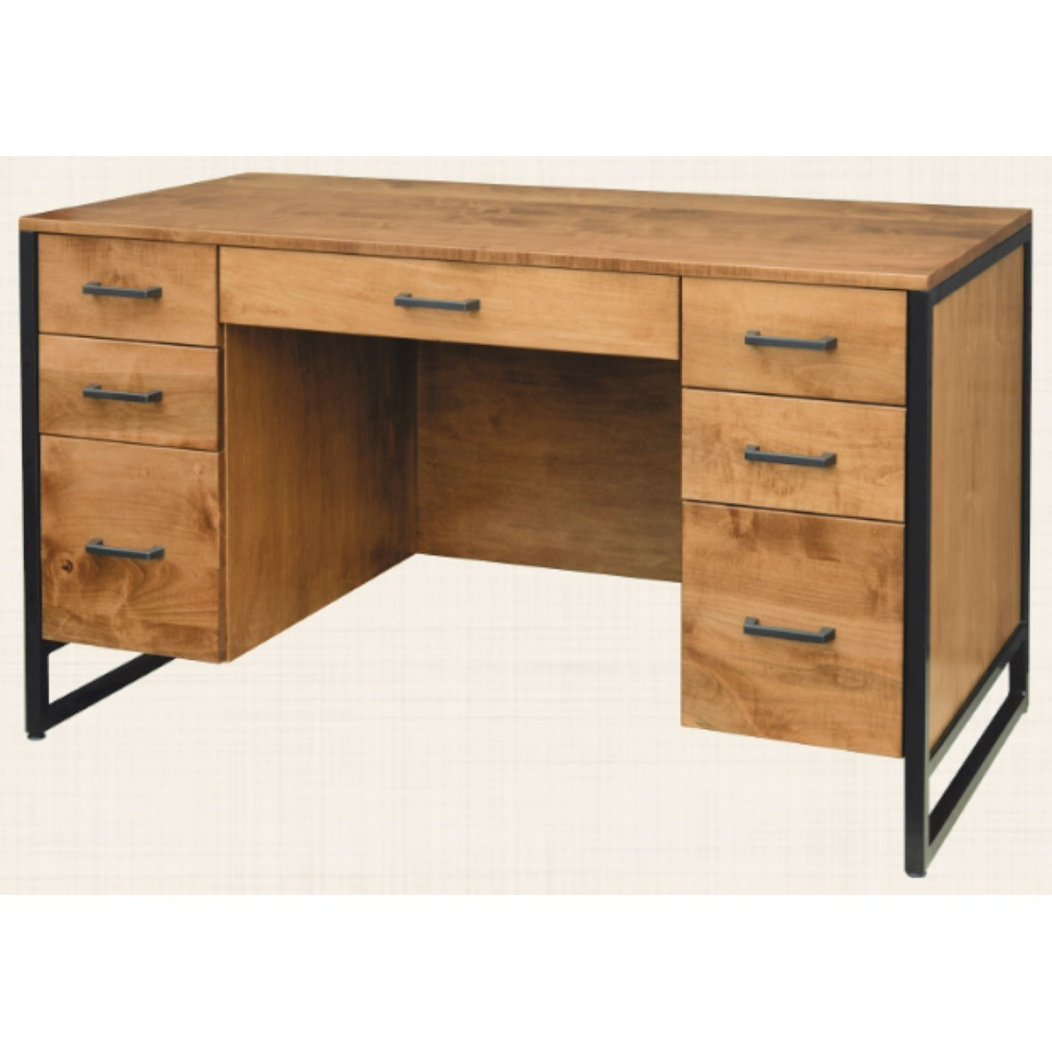 """Bridgeport 52"""" Executive Desk by Maple Hill Woodworking at Saugerties Furniture Mart"""