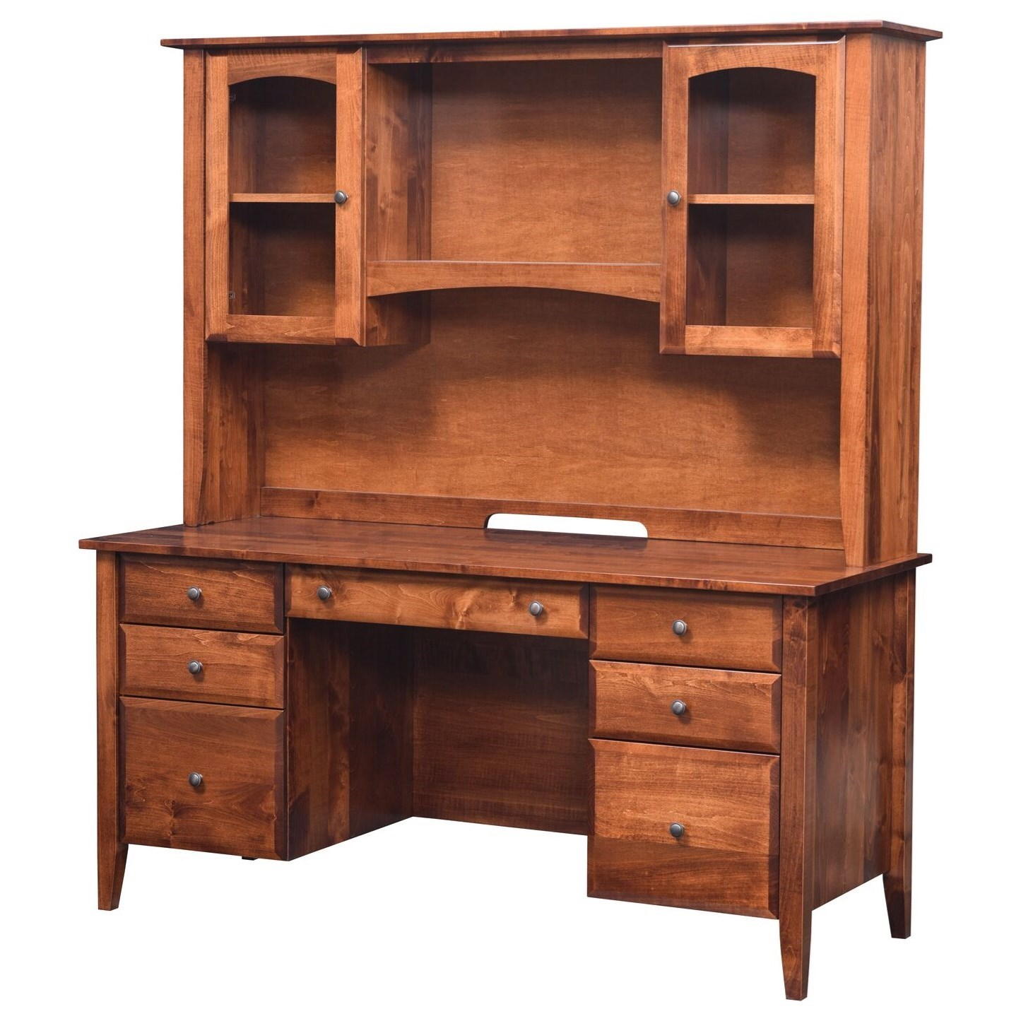 Hampton Wall Unit Desk and Hutch by Maple Hill Woodworking at Saugerties Furniture Mart