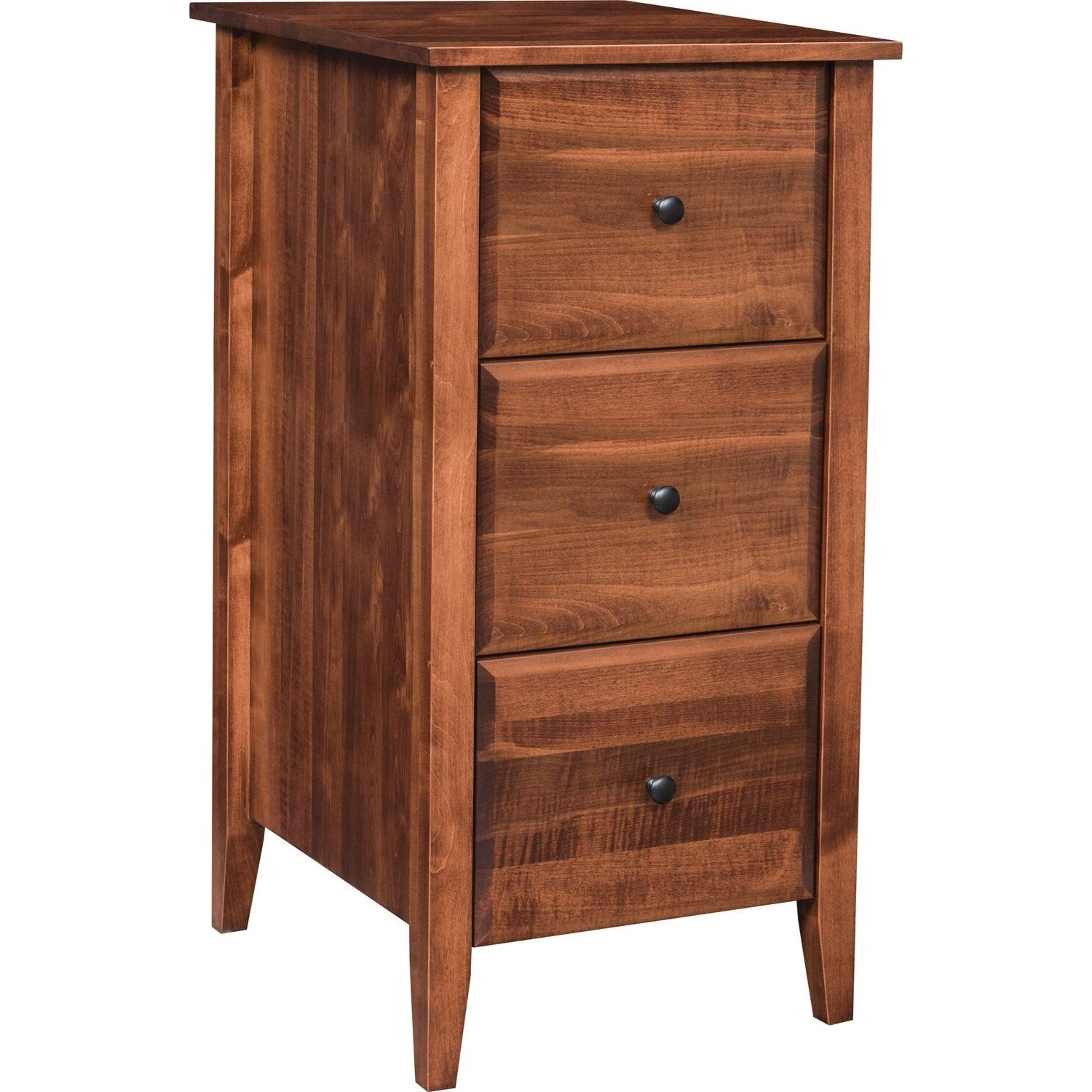 Hampton 3-Drawer File Cabinet by Maple Hill Woodworking at Saugerties Furniture Mart