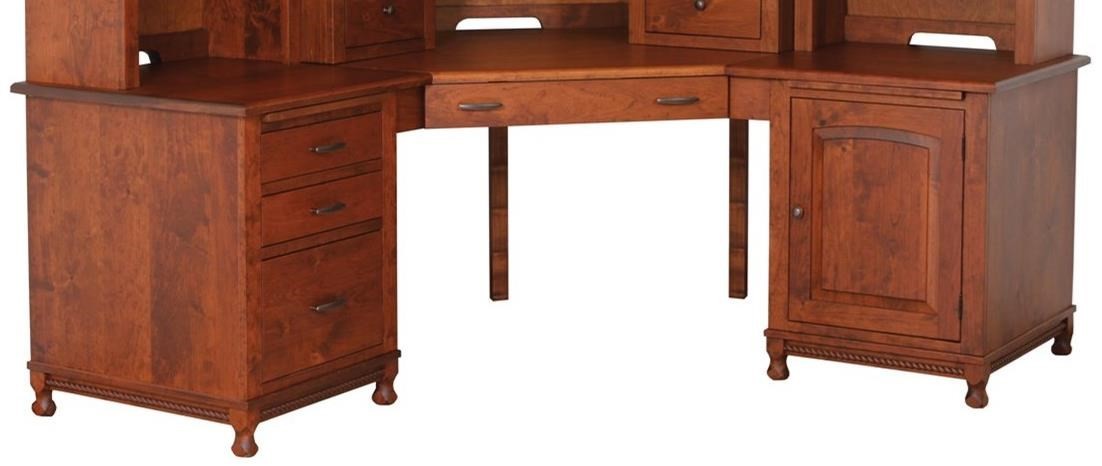 Henry Stephens Corner Desk by Maple Hill Woodworking at Saugerties Furniture Mart