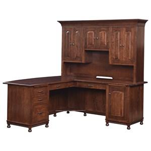L-Corner Desk and Hutch