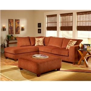 March Upholstery Atlanta 2 PC Upholstered Sectional Group