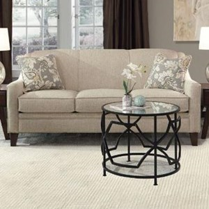 Traditional Sofa with Tapered Legs