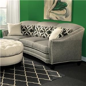 Contemporary Conversation Sofa with Customizable Fabric