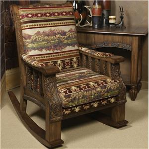 North Woods Upholstered Rocker Chair with Customizable Upholstery