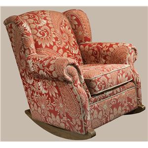 Casual Wing Back Rocker Chair