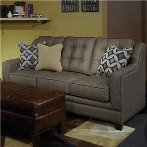 Casual Upholstered Sofa with Plush Tufted Back