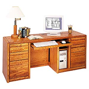 kathy ireland Home by Martin Contemporary  Computer Credenza with Keyboard Pull-Out