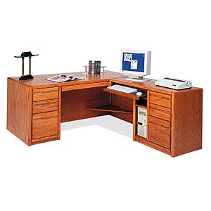 kathy ireland Home by Martin Contemporary  L-Shaped Desk with Right Facing Return