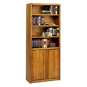 kathy ireland Home by Martin Contemporary  Bookcase with Lower Doors
