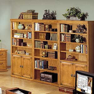 kathy ireland Home by Martin Huntington Oxford Bookcase Trio