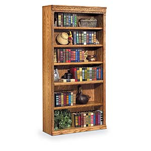 kathy ireland Home by Martin Huntington Oxford 6 Shelf Bookcase