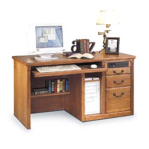 kathy ireland Home by Martin Huntington Oxford Single Pedestal Desk