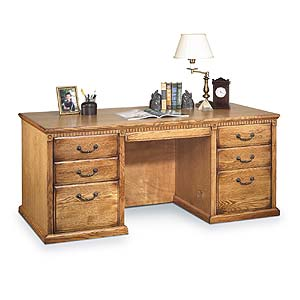 kathy ireland Home by Martin Huntington Oxford Double Pedestal Desk