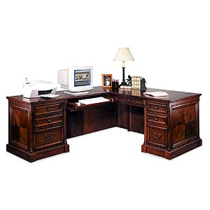 kathy ireland Home by Martin Mount View L-Shaped Executive Desk