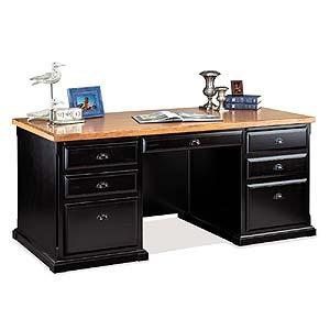 kathy ireland Home by Martin Southampton Double Pedestal Executive Desk