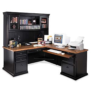kathy ireland Home by Martin Southampton Right Facing L-Shaped Desk & Hutch