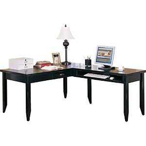 kathy ireland Home by Martin Tribeca Loft L-Shaped Writing Desk & Return
