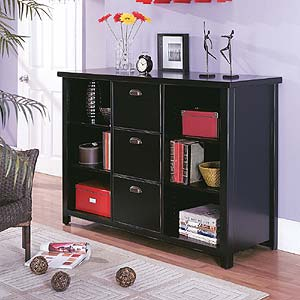 kathy ireland Home by Martin Tribeca Loft 3 Drawer File & Bookcase