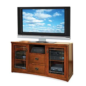 kathy ireland Home by Martin Mission Pasadena Tall Console For Flat Panel TV's