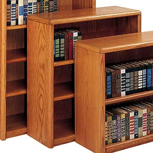 kathy ireland Home by Martin Contemporary  Bookcase with 3 Shelves