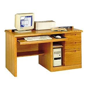 kathy ireland Home by Martin Waterfall Single Pedestal Computer Desk