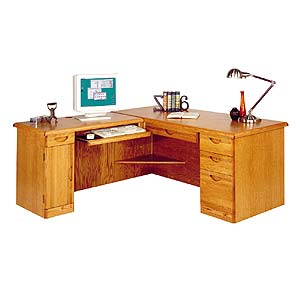 kathy ireland Home by Martin Waterfall L-Shaped Desk with Left Facing Return